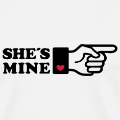 Girlifriends love gift Finger She is mine heart T-Shirts