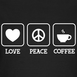 Love, Peace, Coffee Tee shirts - T-shirt Femme