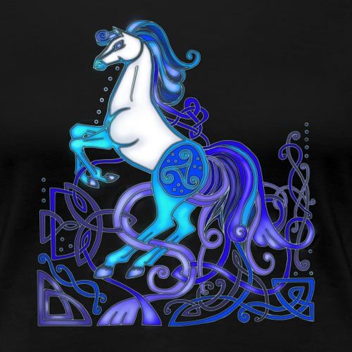 Celtic Horse - Silver & Blue
