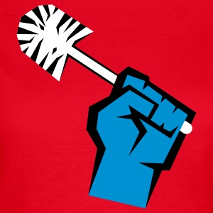 Riot with toilet brush T-Shirts - Frauen T-Shirt