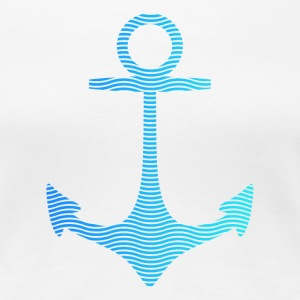 anchor of waves and sea anker bølger og havet T-shirts - Dame premium T-shirt