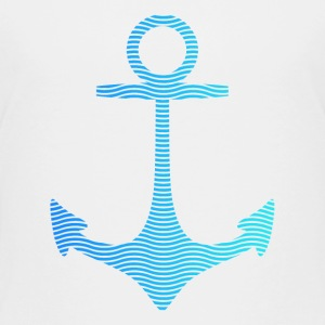 anchor of waves and sea Shirts - Kids' Premium T-Shirt