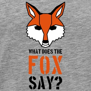 What Does The Fox Say Text Logo T-Shirts - Men's Premium T-Shirt