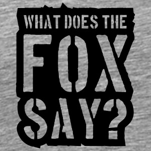 What Does The Fox Say Stamp Logo T-skjorter - Premium T-skjorte for menn