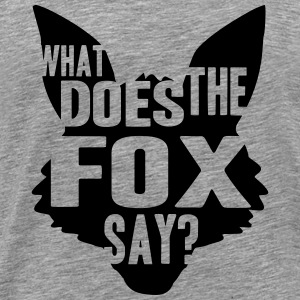 What Does The Fox Say Logo Design T-skjorter - Premium T-skjorte for menn
