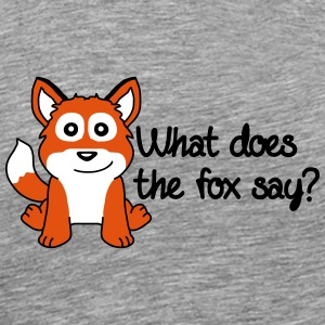 What Does The Fox Say T-skjorter - Premium T-skjorte for menn