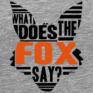 Cool What Does The Fox Say Logo T-shirts - Herre premium T-shirt