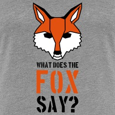 What Does The Fox Say Text Logo Koszulki