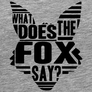 Cool What Does The Fox Say Logo T-Shirts - Männer Premium T-Shirt