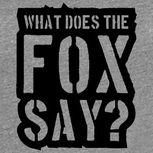 What Does The Fox Say Stamp Logo T-Shirts - Women's Premium T-Shirt