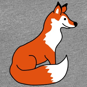 Sitting Fox T-skjorter - Premium T-skjorte for kvinner