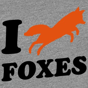 I Love Foxes T-skjorter - Premium T-skjorte for kvinner