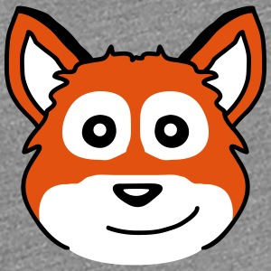Cute Fox Child Face T-skjorter - Premium T-skjorte for kvinner