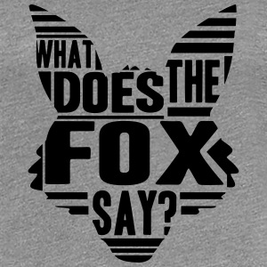 Cool What Does The Fox Say Logo T-skjorter - Premium T-skjorte for kvinner