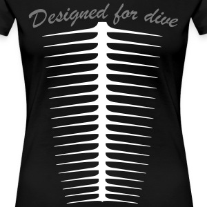Designed for dive Tee shirts - T-shirt Premium Femme