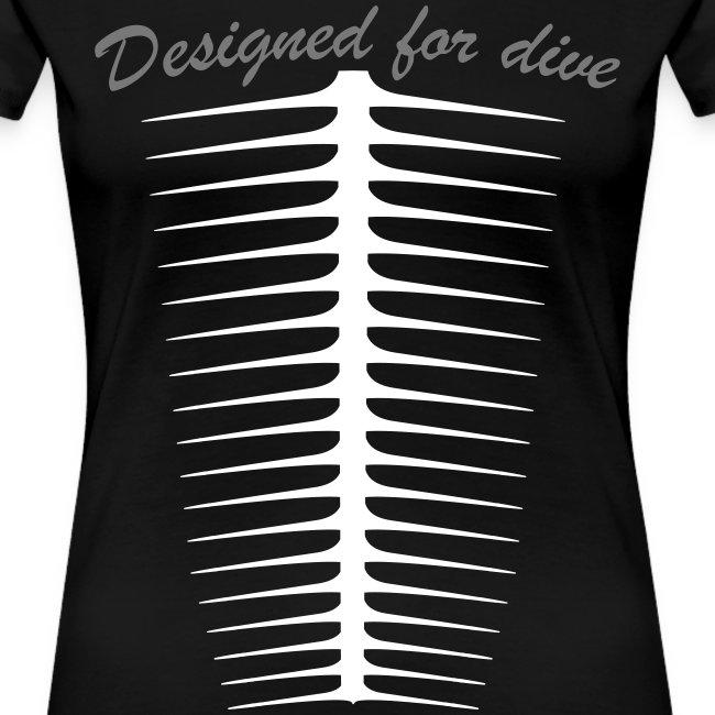 Designed For Dive-Fem- Imp.Flex 2 couleurs+Logo Dos