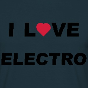 I love Electro music- j'aime l'électro  Tee shirts - T-shirt Homme
