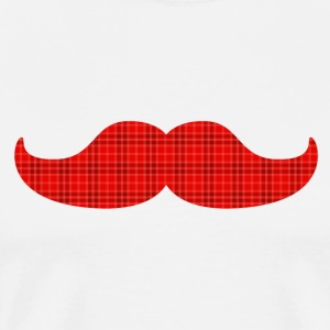 moustache tartan plaid T-Shirts - Men's Premium T-Shirt