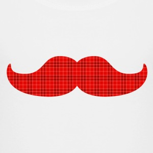 moustache tartan plaid bart tartan pledd Skjorter - Premium T-skjorte for barn