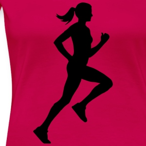 running woman T-Shirts - Frauen Premium T-Shirt
