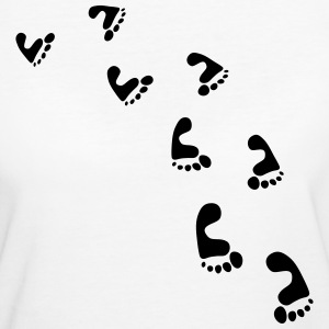 Barefoot Footsteps T-Shirts - Frauen Bio-T-Shirt
