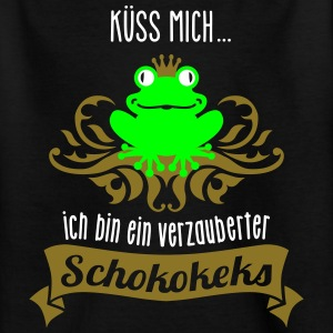 Frosch - König - Keks - Cookie - Kuss  - 3C T-Shirts - Teenager T-Shirt