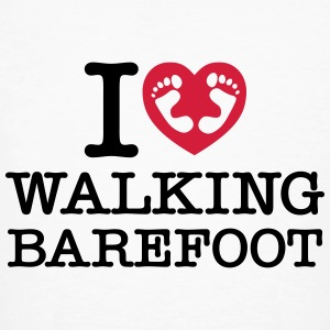 I (Heart) Walking Barefoot T-shirts - Organic mænd
