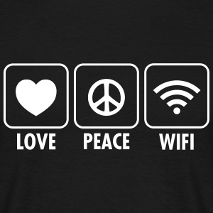 Love, Peace, WIFI T-Shirts - Männer T-Shirt