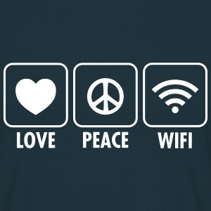 Love, Peace, WIFI T-Shirts - Men's T-Shirt