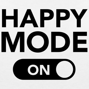 Happy Mode (on) T-Shirts - Frauen T-Shirt mit V-Ausschnitt