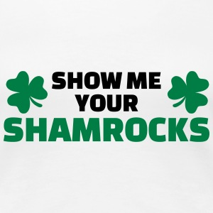 Show me your shamrocks T-Shirts - Frauen Premium T-Shirt