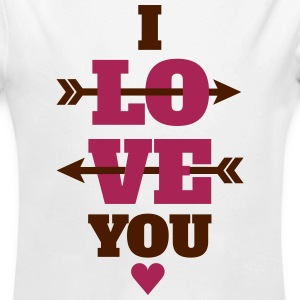 I love you valentines day, love Hoodies - Longlseeve Baby Bodysuit