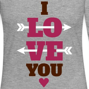 I love you valentines day, love Long Sleeve Shirts - Women's Premium Longsleeve Shirt