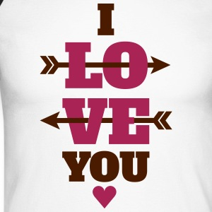 I love you valentines day, love Long sleeve shirts - Men's Long Sleeve Baseball T-Shirt