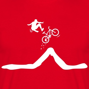 Bike jump with descent of the driver  T-Shirts - Men's T-Shirt