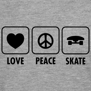 Love, Peace, Skate Tee shirts manches longues - T-shirt manches longues Premium Homme