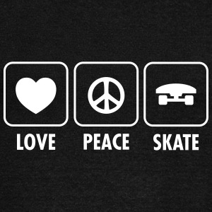 Love, Peace, Skate Sweat-shirts - Pull Femme col bateau de Bella