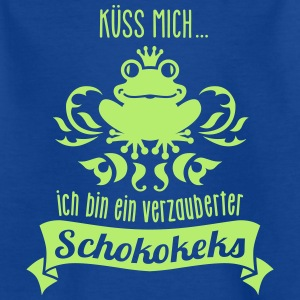 Frosch - König - Keks - Cookie - Kuss  - 1C T-Shirts - Teenager T-Shirt