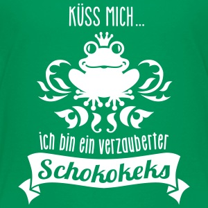 Frosch - König - Keks - Cookie - Kuss  - 1C T-Shirts - Teenager Premium T-Shirt