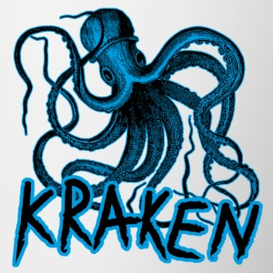 Kraken octopus viking monster mug - Contrasting Mug