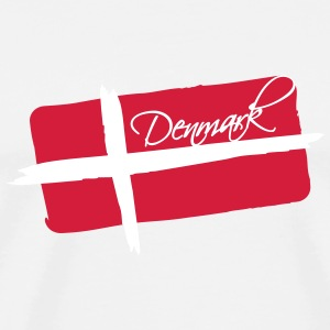 Denmark Flag Design T-Shirts - Men's Premium T-Shirt
