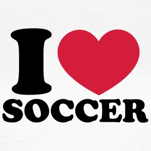Soccer Football Heart I like love world champion  T-Shirts - Women's T-Shirt