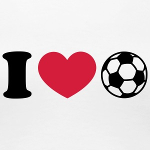 Soccer Football Heart I like love world champion  T-Shirts - Women's Premium T-Shirt