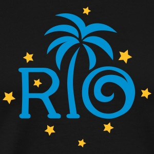 RIO Brazil Palm Star Football World Cup Champion T-Shirts - Men's Premium T-Shirt