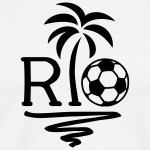 RIO Brazil Palm Champion Star Football World Cup  T-shirts - Herre premium T-shirt