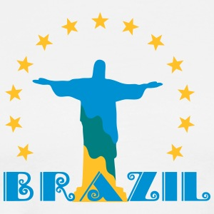 Brazil Brasil Christ star football world champion T-Shirts - Men's Premium T-Shirt