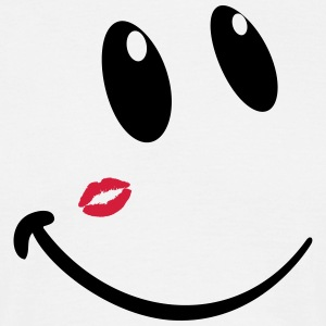 Kiss smiley - Männer T-Shirt