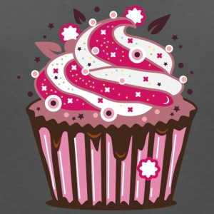 A cupcake with frosting T-Shirts - Women's V-Neck T-Shirt