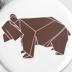 origami bär bear grizzly papier falten japan Buttons & Anstecker - Buttons groß 56 mm