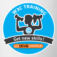 Design ~ w3devcampus_blue_badge_mug